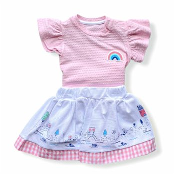 Lally Things - Rainbow Town Girl Skirt Set