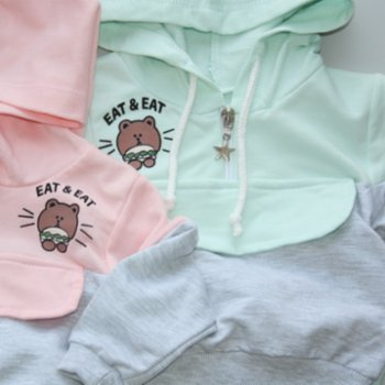 Lally Things - Double Color Cool Sweatshirt Set