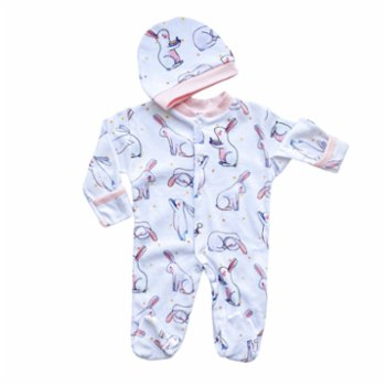 Lally Things - Bunny Familiy Baby SleepSuit