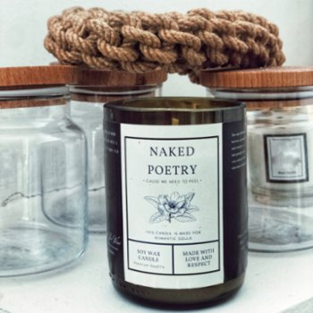 Light The Wine - Naked Poetry Mini Candle