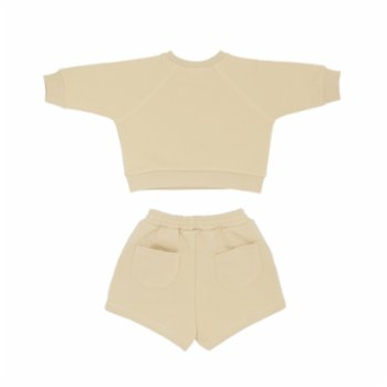 Boh The Label - Logo Embroidered Shorts Top Tracksuit Set