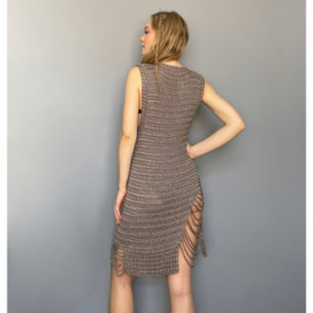 All We Knit - Mink Chained Dress