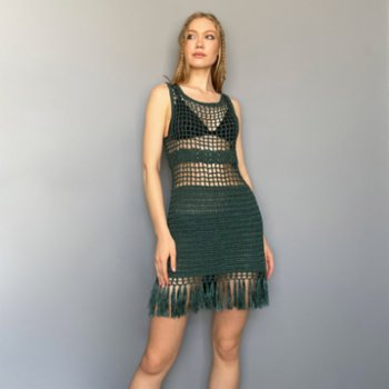All We Knit - Emerald Cage Dress