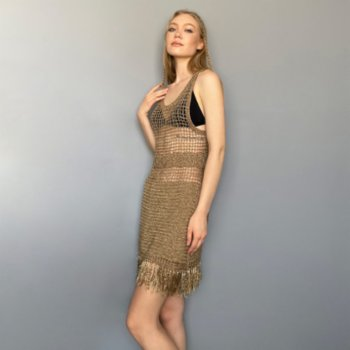 All We Knit - Gold Cage Dress