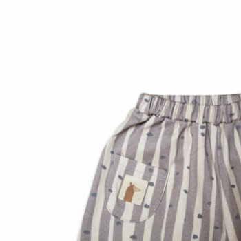 Auntie Me - Baby Irregular Stripes & Dots Wide Leg Trousers