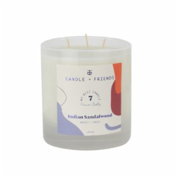Candle and Friends - No.7 Indian Sandalwood Small Glass Candle