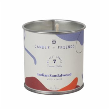 Candle and Friends - No.7 Indian Sandalwood Tin Candle