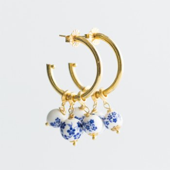 CHASING PIECES - The Navy Hoop Earring