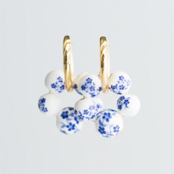 CHASING PIECES - The Blue Hoop Earring