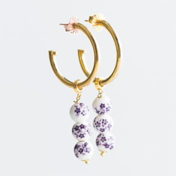 CHASING PIECES - Liliac Hoops Earring