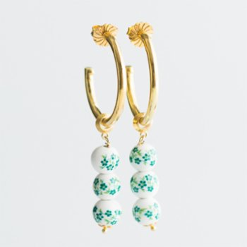 CHASING PIECES - Lime Hoops Earring