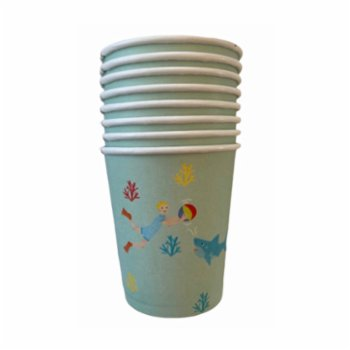 BalinMandalin - Under the Sea Cup, Shark design, 8 in a Package