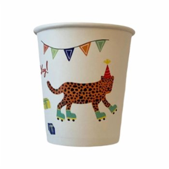 BalinMandalin - Jungle Cup, Leopard and Crocodile design, 8 in a Package