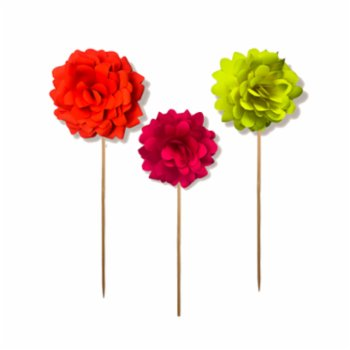 BalinMandalin - Peony Origami Cake Topper, 3 in a package