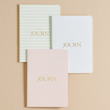 Journ - Stripes Collection - Including 3 Notebooks
