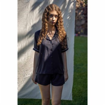 Bed and Beyond - Piped Short Pyjama Top