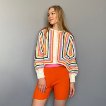 All We Knit - Vivid Pastel Sweater