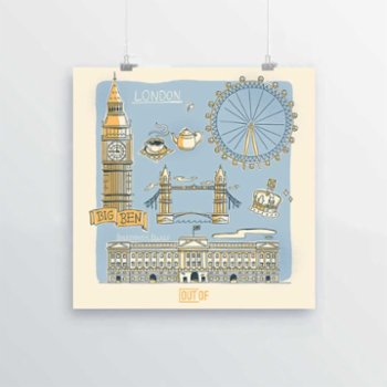 Out Of - London Print
