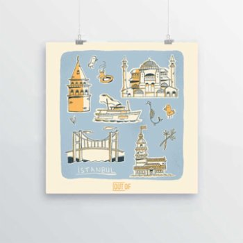 Out Of - İstanbul Print