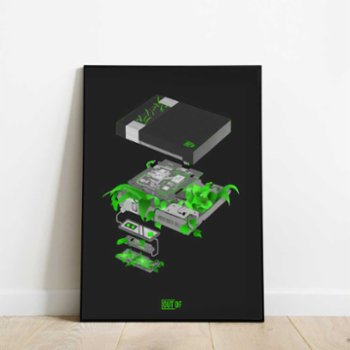 Out Of - NES Dark Mode Print