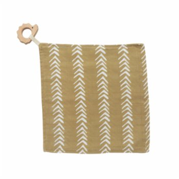 Piccolo Republic - Mustard Handkerchief with Wooden Teether