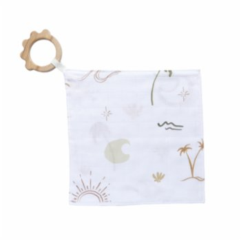 Piccolo Republic - Summer Boho Handkerchief with Wooden Teether