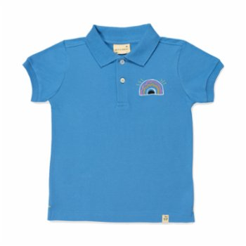 Beetle Beez - Happy Rainbow Short-Sleeve embroidered Polo T-Shirt