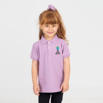 Beetle Beez - Chess the Purple Frog Short-Sleeve embroidered Polo T-Shirt