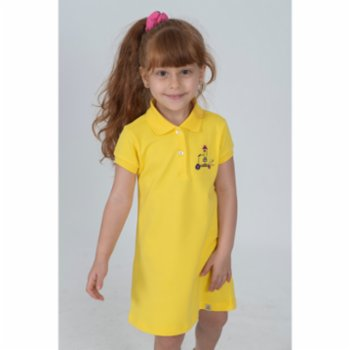 Beetle Beez - Cool Scooter Girl | Short-Sleeve embroidered Polo Dress