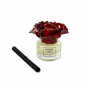 H'ons Maison - Tea Time In Lemon Gardens Diffuser Set With Bright Red Top