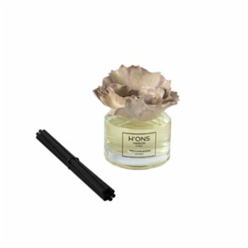 H'ons Maison - White Flower Bouquet Diffuser Ser With Cotton Ceramic Top