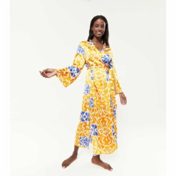 Lords X Lilies - Viscose-Satin Dressing Gown With Sash