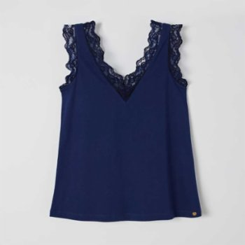Lords X Lilies - V-Neck Blouse With Lace Details