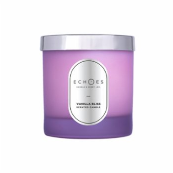 Echoes Lab - Vanilla Bliss Scented Wood Wick Natural Candle