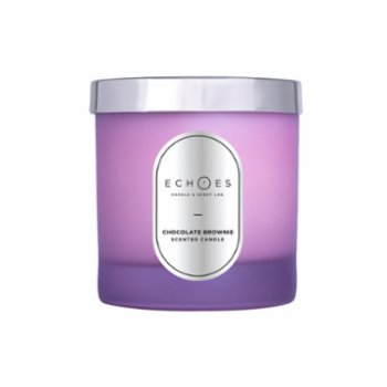 Echoes Lab - Chocolate Brownie Scented Wood Wick Natural Candle