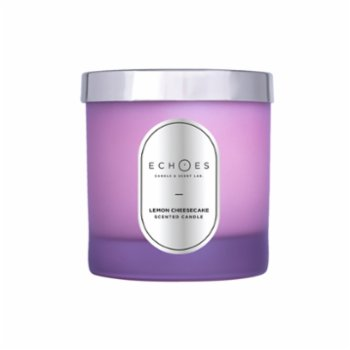 Echoes Lab - Lemon Cheesecake Scented Wood Wick Natural Candle