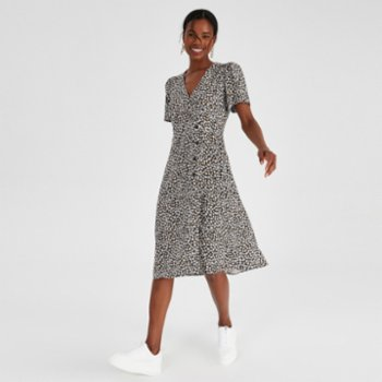 Alleggria - Audrey Double Breasted Midi Length Dress