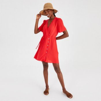 Alleggria - Sophia Double Breasted Buttoned Short Dress