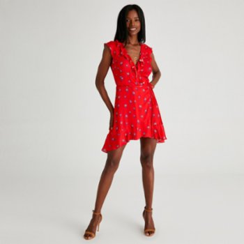 Alleggria - Bianca Double Breasted Frilly Short Dress - I
