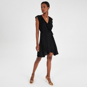 Alleggria - Bianca Double Breasted Frilly Short Dress - II