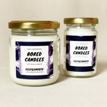 Bored Candles - Deep&Smooth Soy Wax Candles
