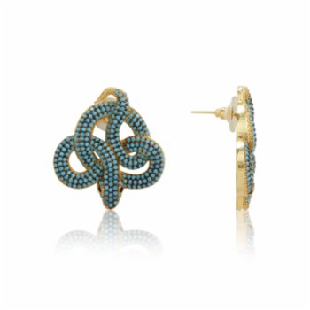 May Concept - May Turquoise Snake Earring