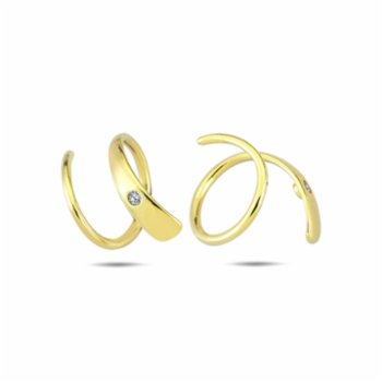 Klue Concept - One Stone Spiral Earrings