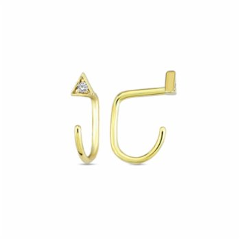 Klue Concept - J Triangle Stone Earrings