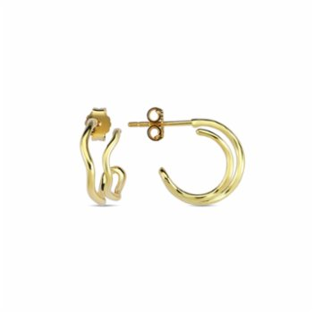 Klue Concept - Double Wave Earrings