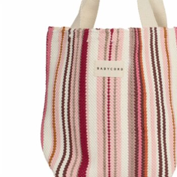 Babycord - Striped Hand Made Tote Bag - I