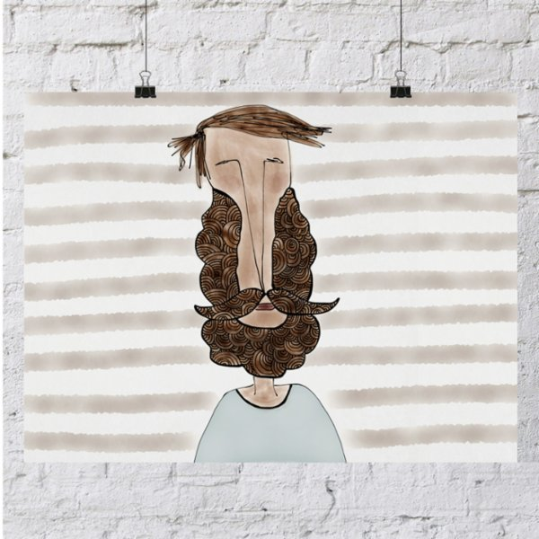 ekinakis Beard Love Art Print