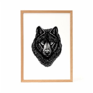 Nice to Have  Gray Wolf Illustration