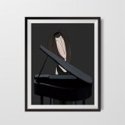 ekinakis  Pianist Canvas
