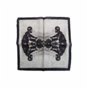 The Black Ears  The Gentleman Rider Pocket Square